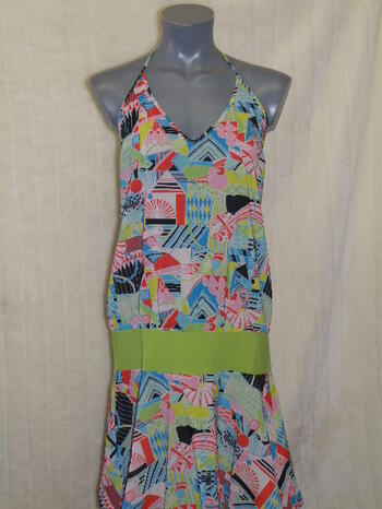 MARLIES DEKKERS SD YELLOW SUBMARINE Print/Green dress