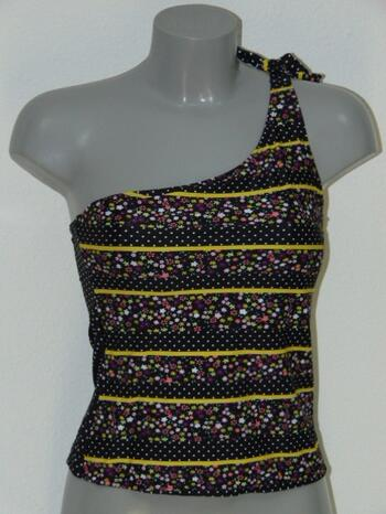 LINGADORE BEACH DUTCHIES BlackDots/Print tankini