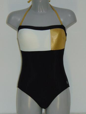 SHIWI CELEB Black/Gold/White Bathingsuit