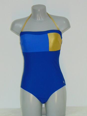 SHIWI CELEB Blue/Gold Bathingsuit
