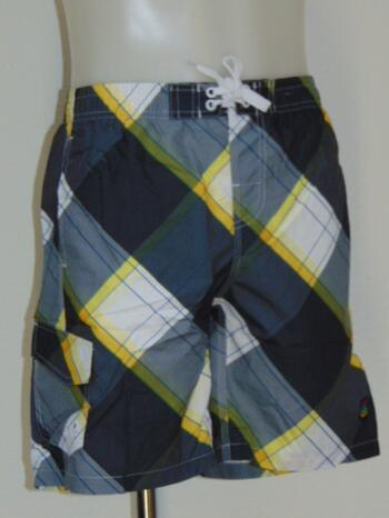 SHIWI KIDS PLAID Grey/Yellow short