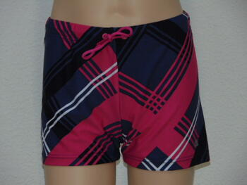 SHIWI KIDS PLAID Navy/Pink Short