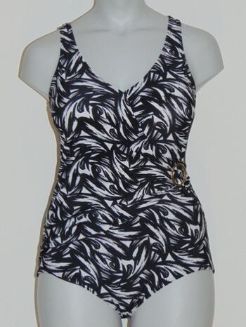 SAPPH BEACH SAMPLE PALMETTO Black/White Badingsuit