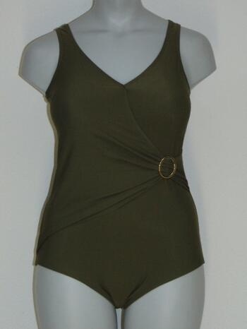 SAPPH BEACH MADAGASCAR Wrap Swimsuit Khaki