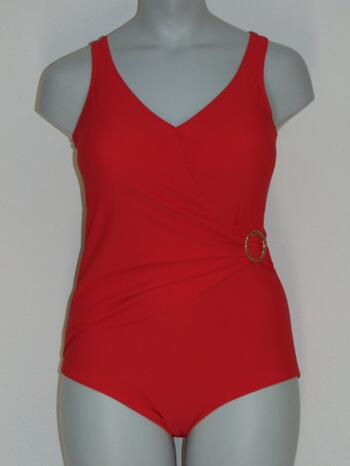 SAPPH BEACH MADAGASCAR Wrap Swimsuit Red
