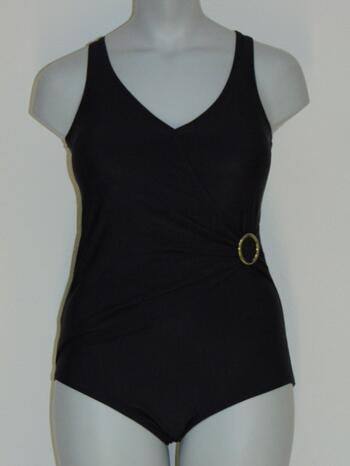 SAPPH BEACH SAMPLES MADAGASCAR Black Wrap swimsuit