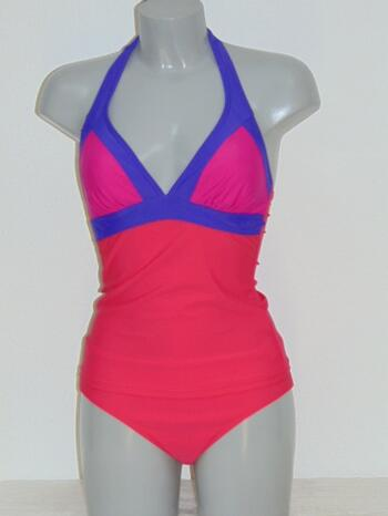 NICKEY NOBEL BEACH SAMPLES SEQUINCE Red/Purple Tankini + short