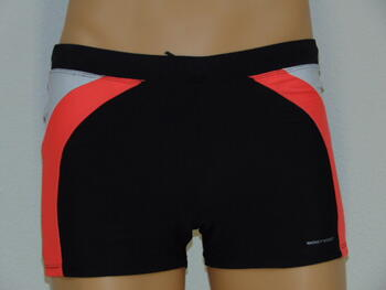 NICKEY NOBEL MEN SAMPLES VIKTOR Black/Coral swimshort