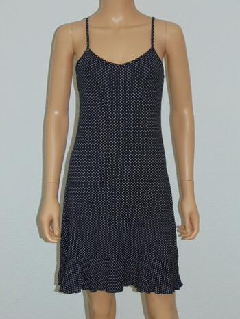AFTER EDEN LOUNGE DOTS Black/White Dress