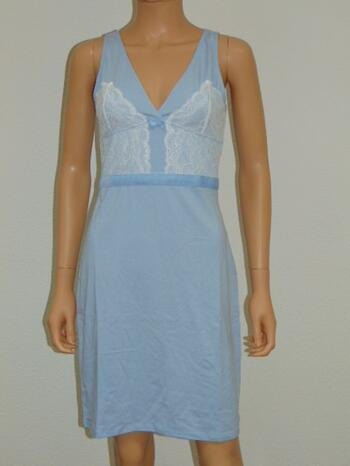 SAPPH SAMPLES QUEEN OF LACE Baby Blue Slip dress
