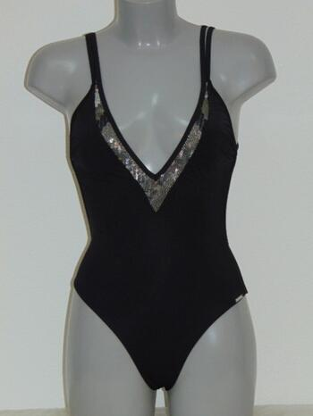 SAPPH BEACH BOURBON Black Bathingsuit