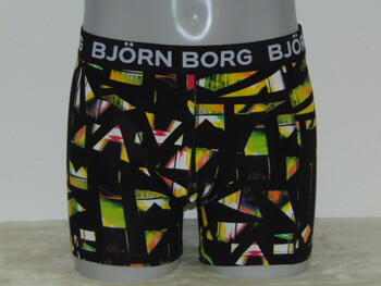 BJÖRN BORG SPLINT Black/Lime print short