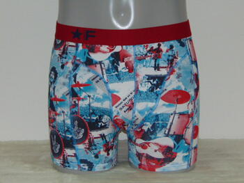 FUNDERWEAR MEN WOODSTOCK  Petrol/Red Boxershort