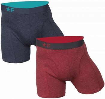 FUNDERWEAR Heren short 2pack Red/Blue