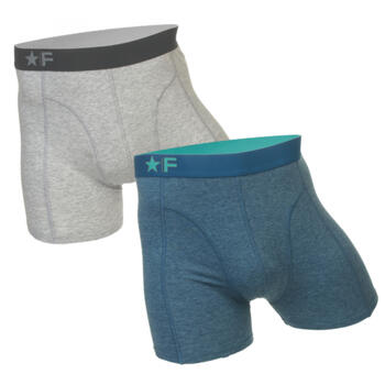 FUNDERWEAR Heren short 2pack Grey/Petrol