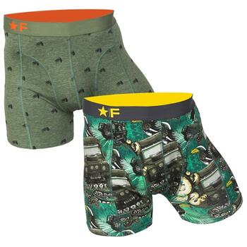 FUNDERWEAR Heren short 2pack Jeep & Jungle Green