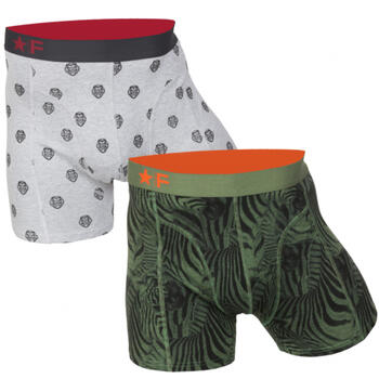 FUNDERWEAR Heren short 2pack Lion & Zebra Green