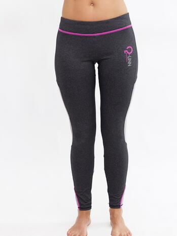 Q-LINN BARCELONA Antracite/Pink Performance Tight