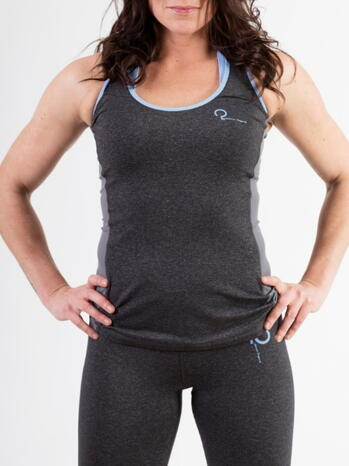 Q-LINN BARCELONA Antracite/Blue Sports top