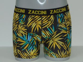 ZACCINI LEAVES Yellow/Aqua print short