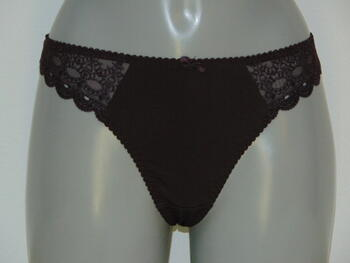 UNDERLINES INTIMATES Embroidery Brown string