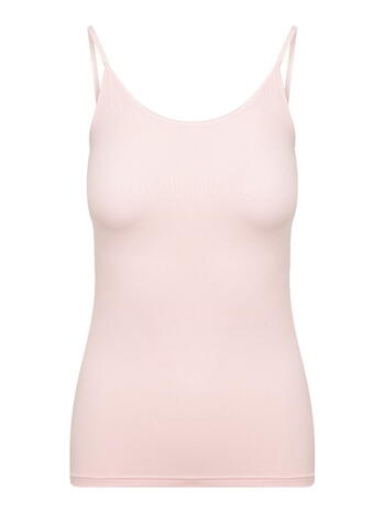 RJ PURE COLOR Micro Dames Spaghetti Top Roze